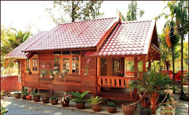 Desain rumah kayu