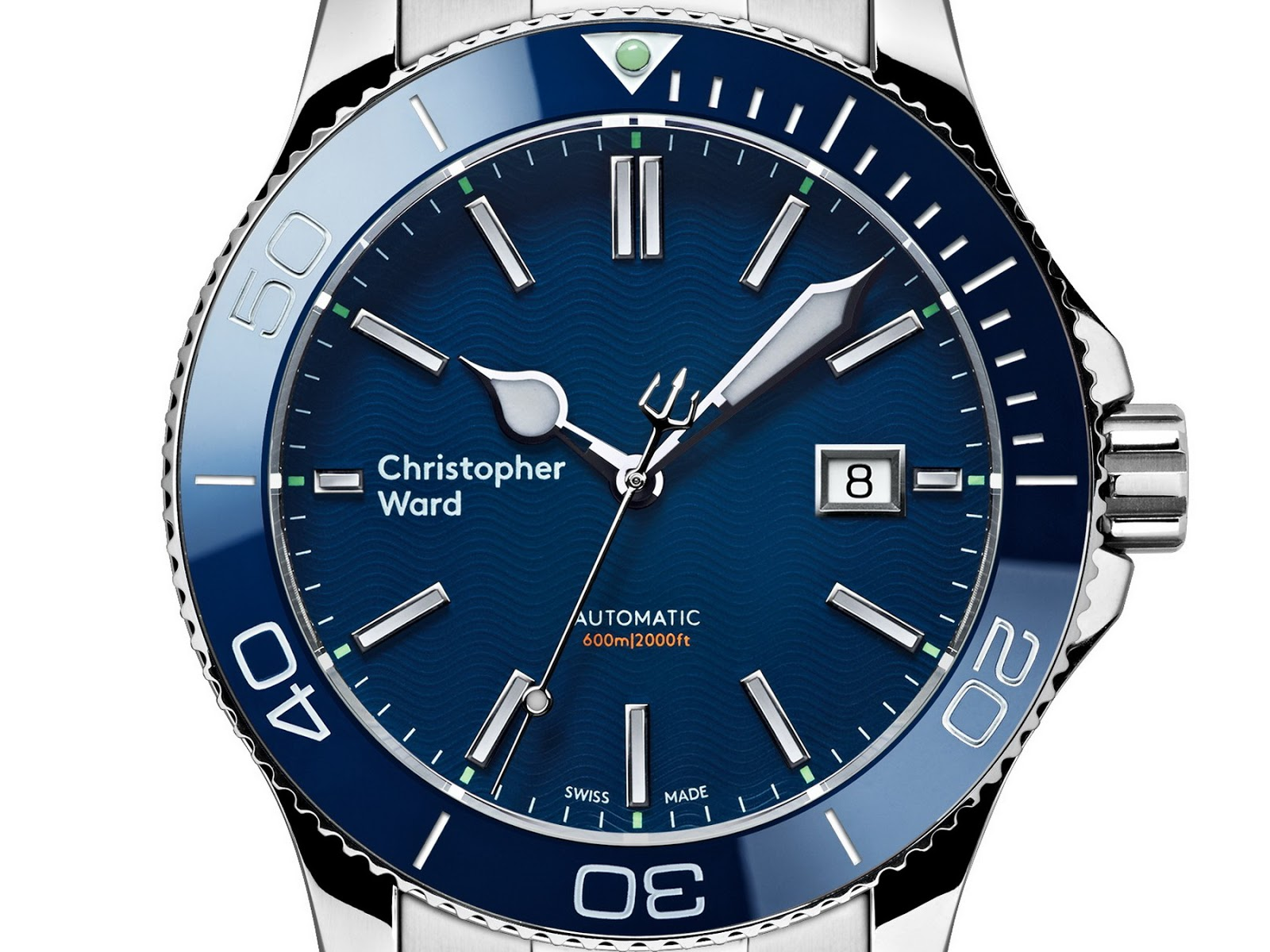 oceanictime christopher ward c60 trident pro 600 new blue