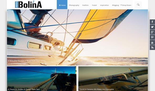 Templat blogger Bolina Responsif adalah tema blogspot pertama yang hanya berfungsi pada kode pintasan