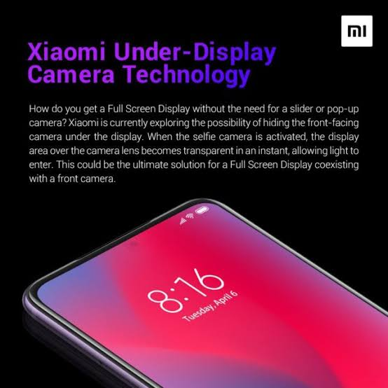 Xiaomi explains more about how its under-screen camera actually works