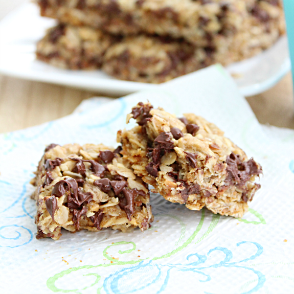Chewy Baked Granola Bars from Table for Seven