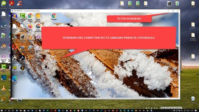 schermo del computer remoto