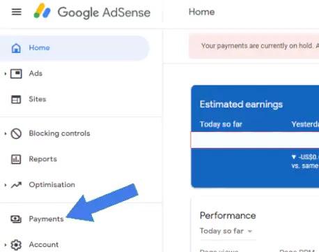 ربط حساب مصرفي Adsense