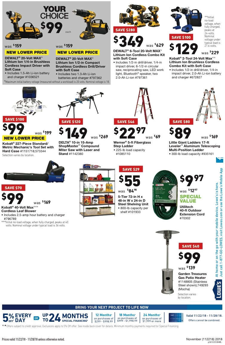 Lowe's Black Friday tools 2018 ad
