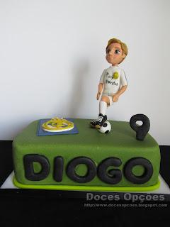 Bolo de aniversário da futura estrela do Real Madrid