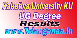 Telangana TS Kakatiya University KU UG Degree Results Download