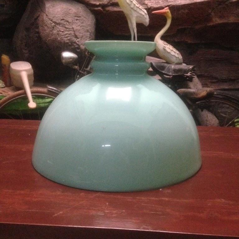 kap lampu kerek hijau telur asin ukuran 35cm sold