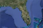 La península de Florida, vista desde satélite