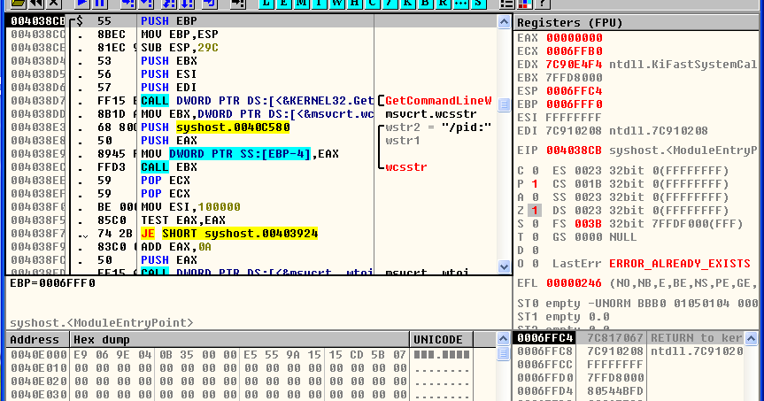 Malware Reverse Engineering !: Introduction to Ollydbg