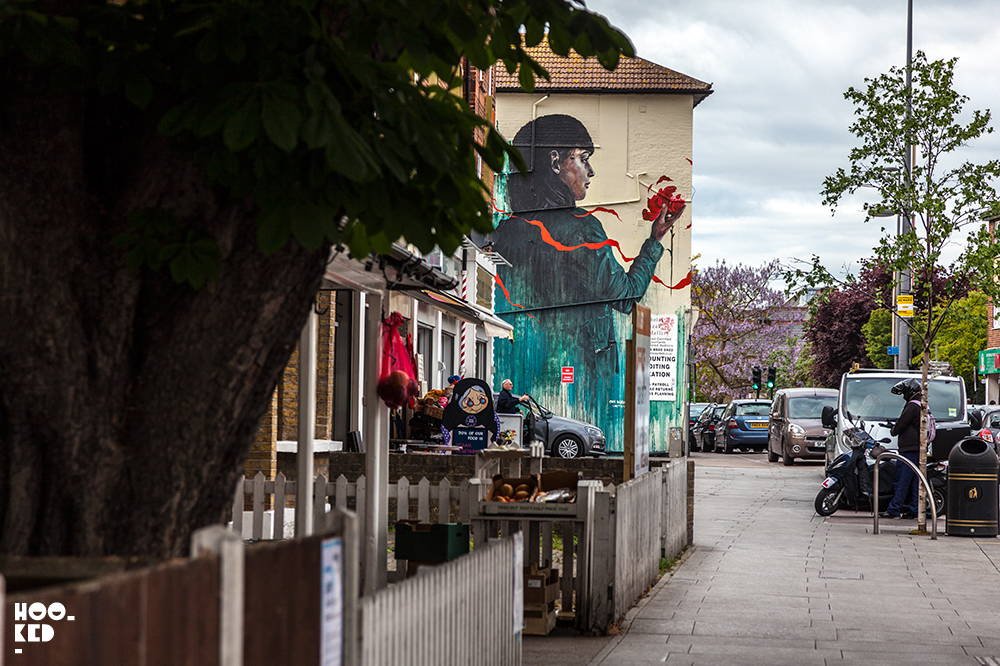 Street Artist Cam Scale And Loretta Lizzio Mural in London