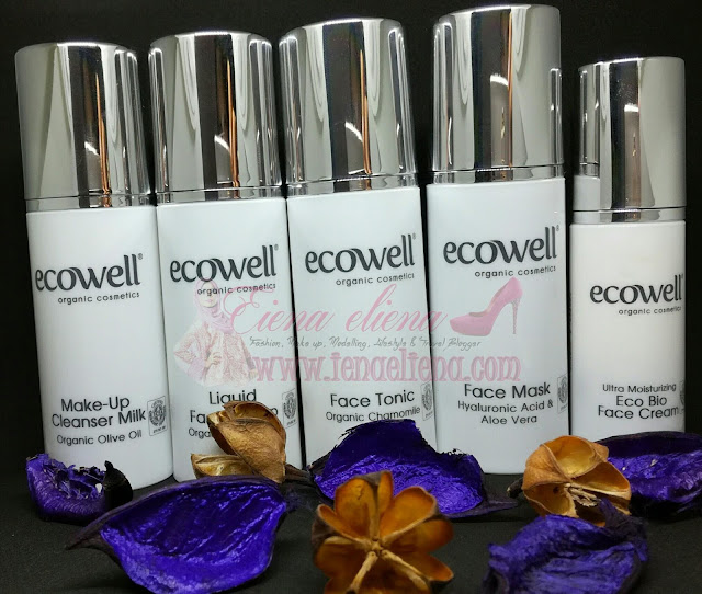 Set Lengkap Ecowell yang mengandungi Face Tonic, Ecowell Make Up Cleanser Milk , Ultra Moisturizing Eco Bio Face Cream, Liquid Facial Soap dan Cell Renewal & Hydrating Face Mask.