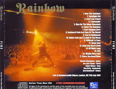 Rock Anthology: Rainbow - Fire (1981) FLAC