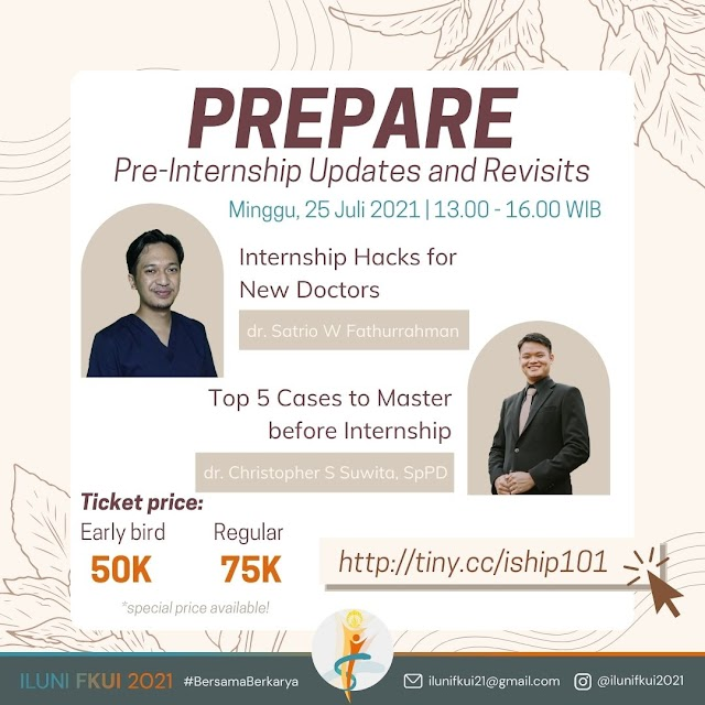 PREPARE: Pre-Internship Updates and Revisits will talk about the things young doctors should know for internship (incl the tips and tricks) and the top 5 cases to ace before starting your internship!