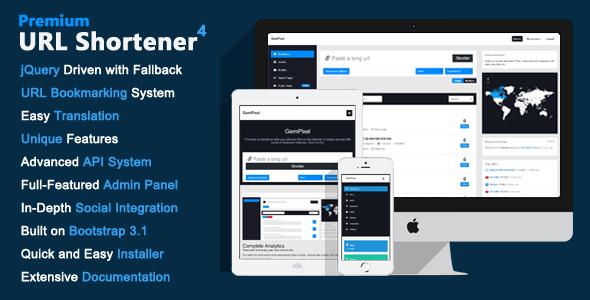 Download Premium URL Shortener v4 0 - CodeCanyon - Script Nulled