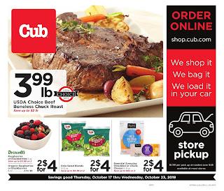 ⭐ Cub Foods Ad 10/17/19 or 10/16/19 ⭐ Cub Foods Weekly Ad October 16 2019