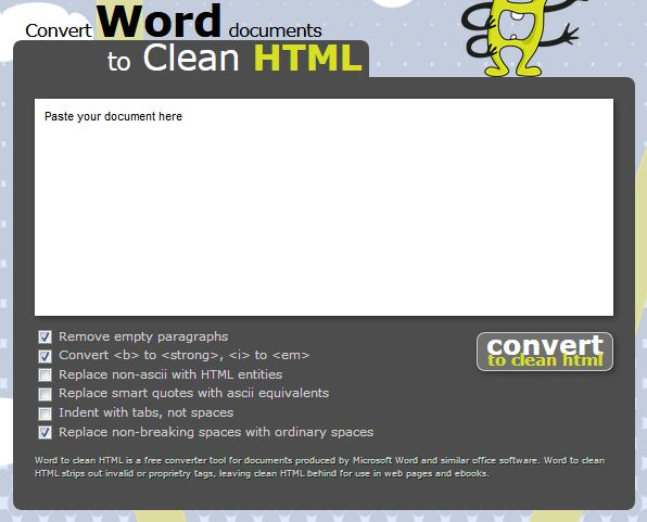 Convert Word Document to Clean HTML