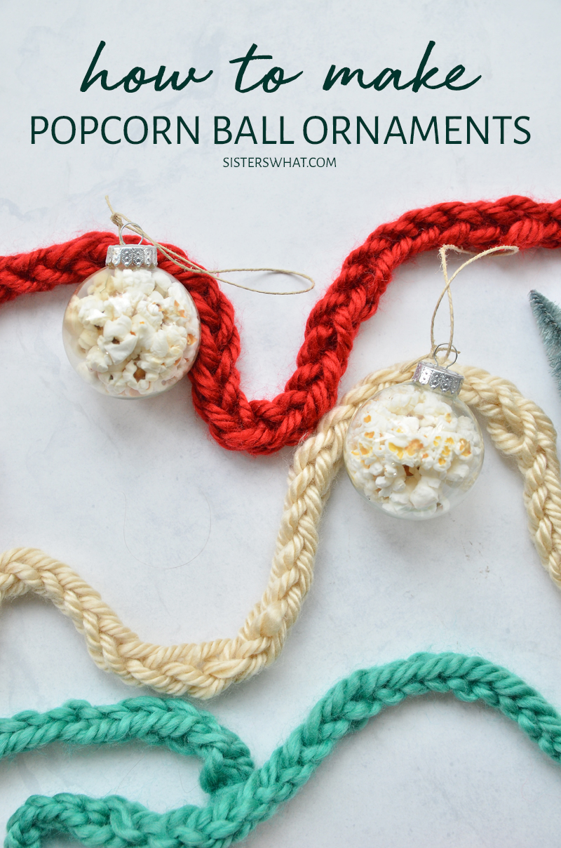 how to make popcorn ornament balls