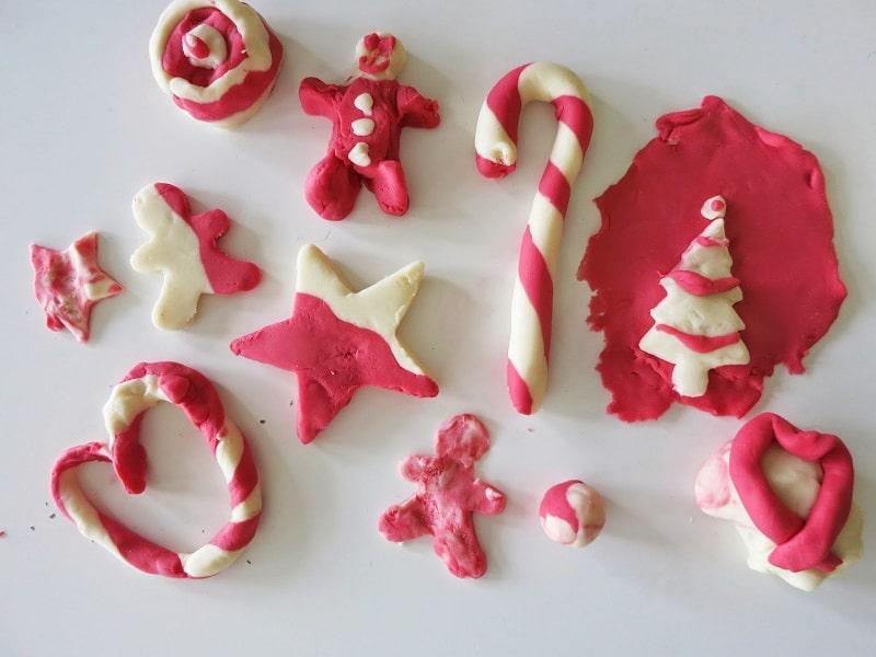 candy cane playdough recipe