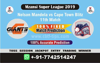 Who will win Today MSL T20 2019, 11th Match Nelson vs Cape Town, Mzansi 2019 MSL T20