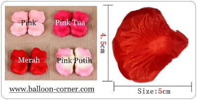 Rose Petals / Kelopak Bunga Mawar Tiruan