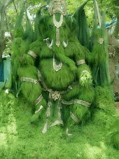 green grass ganesha