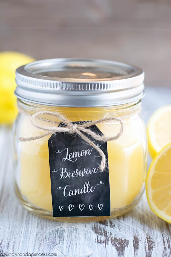 12 velas diy, velas de limón