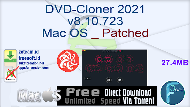 DVD-Cloner 2021 v8.10.723 Mac OS _ Patched_ ZcTeam.id