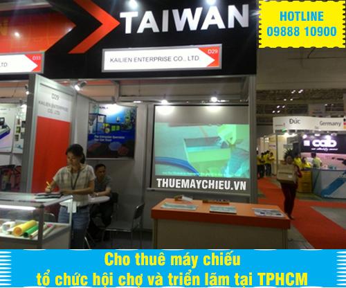 Cho thuê máy chiếu tổ chức hội chợ và triển lãm tại TPHCM