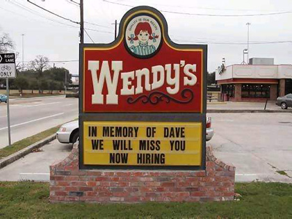 In memory of Dave, we will miss you, now hiring