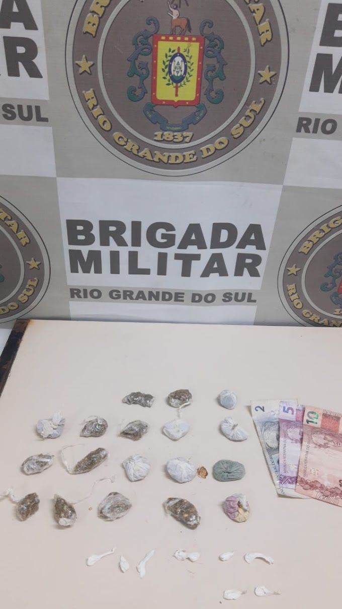 Brigada Militar apreende uma menor por tráfico no bairro Fátima em Cachoeirinha