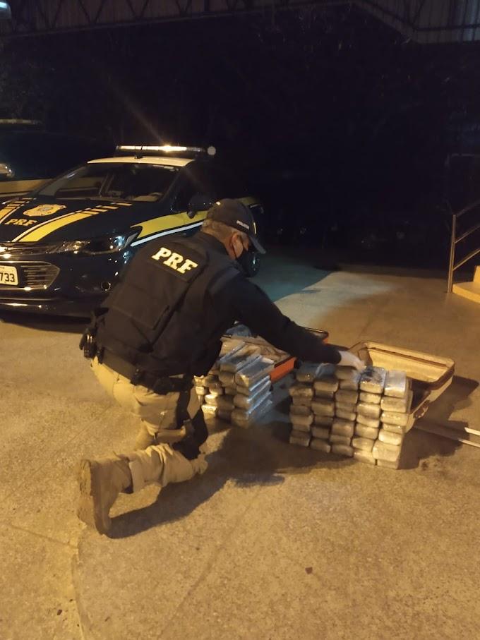 PRF apreende 71 tabletes de maconha escondidos em duas malas na BR-316/MA
