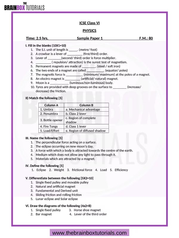 Icse question papers for class 6 pdf thesis statement article example