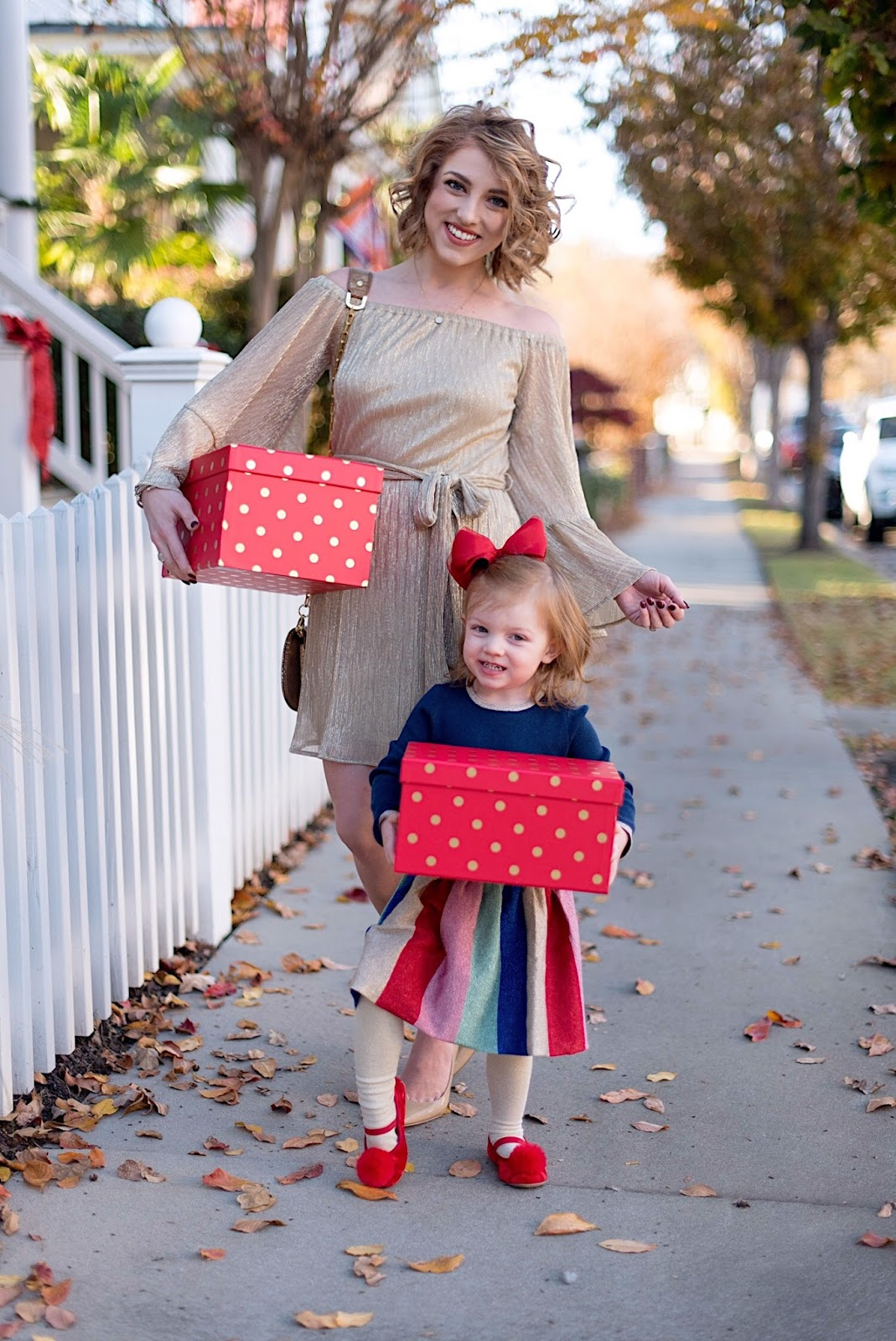 Mommy & Me Dressed Festively - Something Delightful Blog