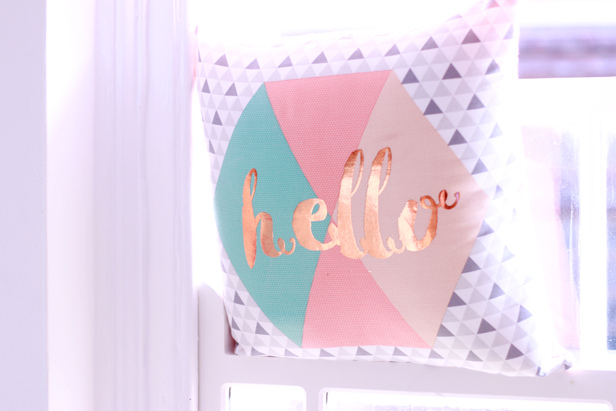 Primark AW16 homeware hello cushion