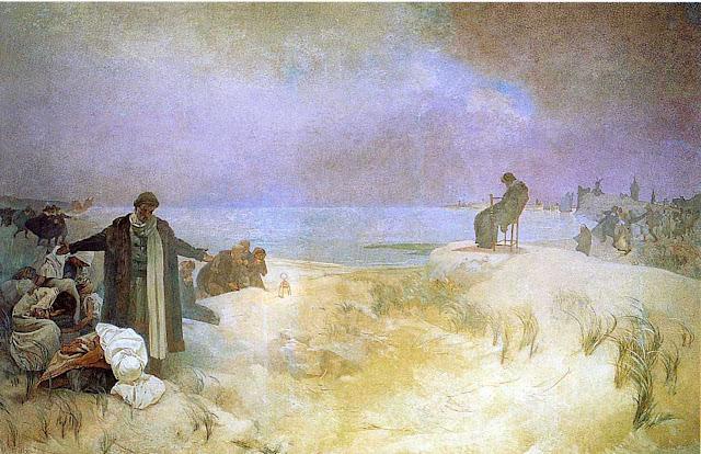 Альфонс Муха - Славянский эпос. Ян Амос Коменский — последние дни в Наардене. 1918