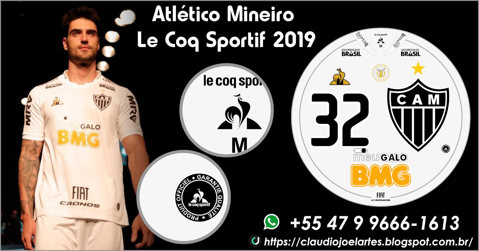 Artes para Futebol de Botão : Atlético Mineiro Le Coq