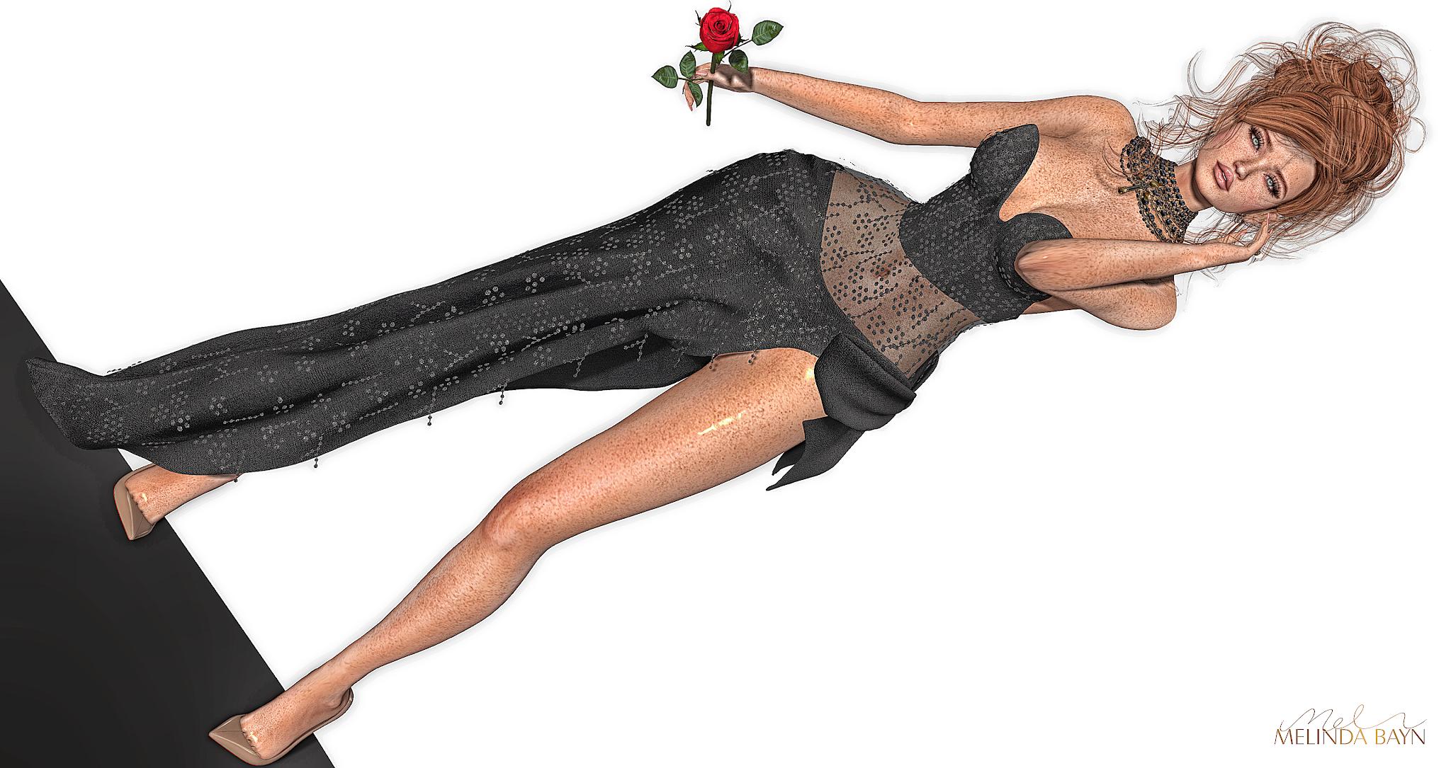 TORI TORRICELLI – Jessica Gown – Black