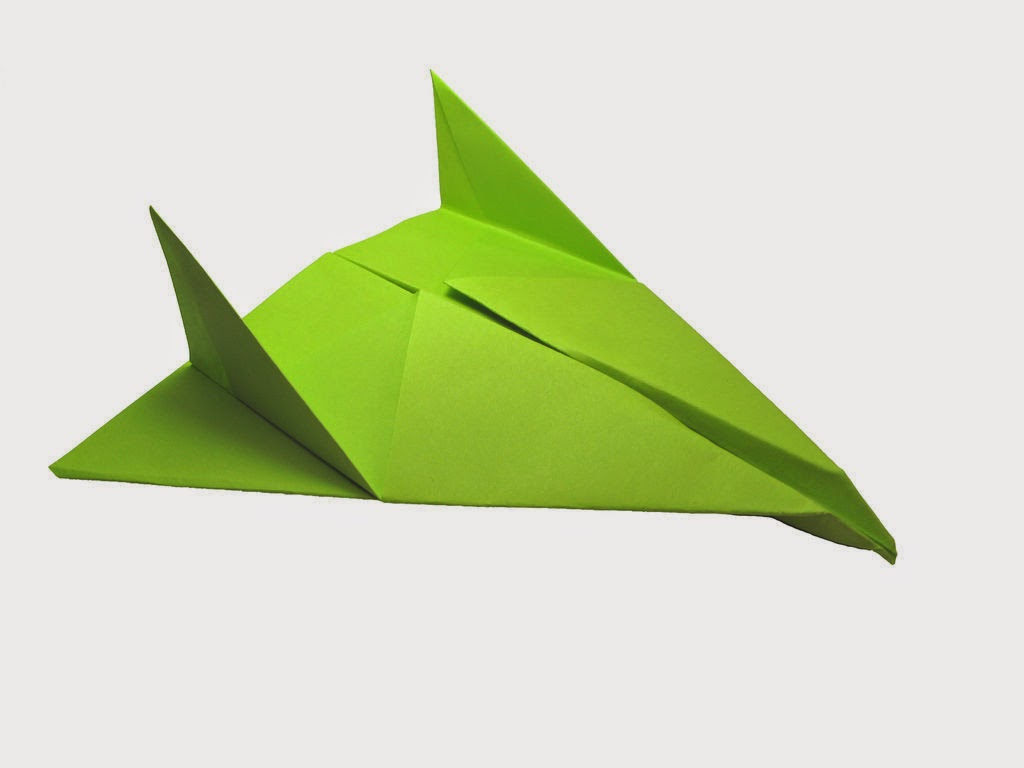 green origami paper