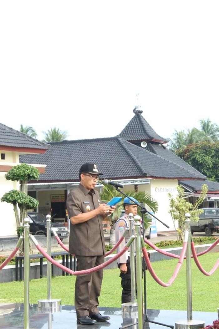 Plt Bupati Lampung Timur Pimpin Apel Glar Pasukan di Polres Lamtim