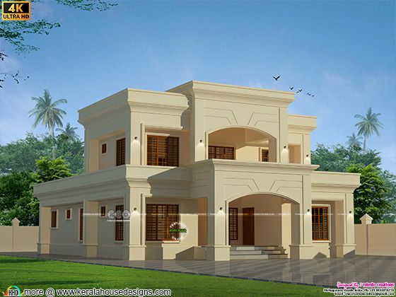 Colonial home design view front