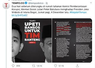 TEMPO Ungkap Mensos Juliari Temui Jokowi Dua Hari Sebelum Dikerangkeng KPK
