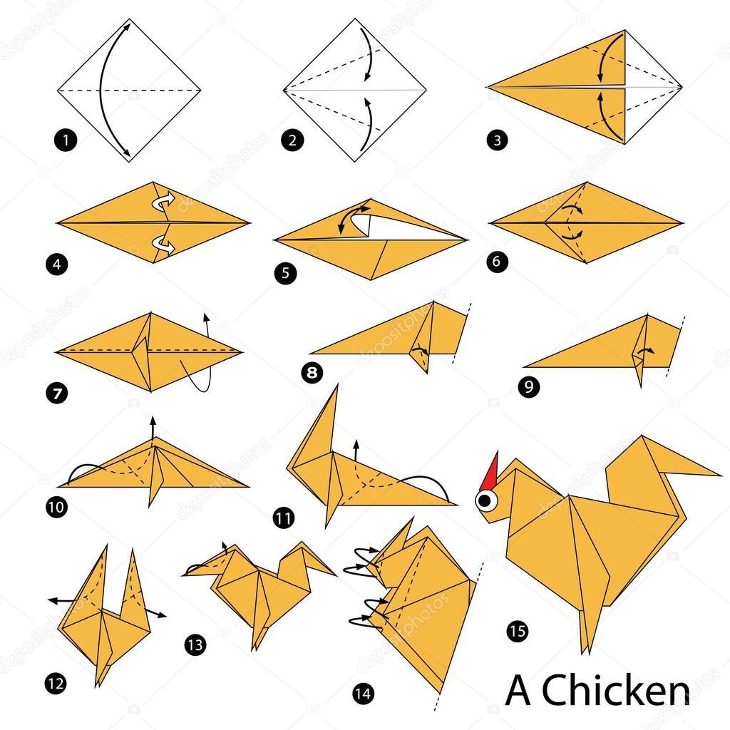 Diagrama Gallo Facil Origami Para Ninos