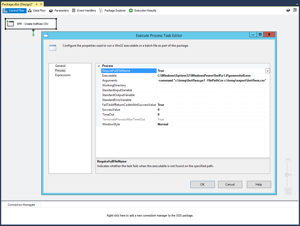 Microsoft SQL Server Integration Services: Executing a