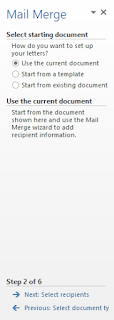 curent mail merge