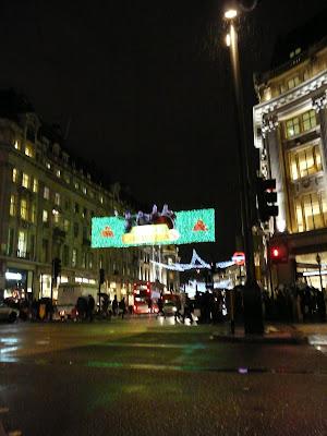 Londres Regent Street à Noël