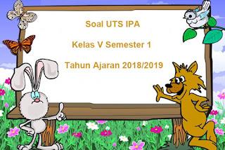Soal UTS IPA Kelas 5 Semester 1 Terbaru 2018/2019