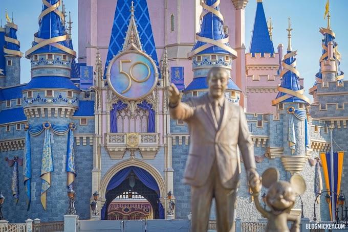 Castelo da Cinderela fica pronto para receber as comemorações de 50 anos do Walt Disney World!