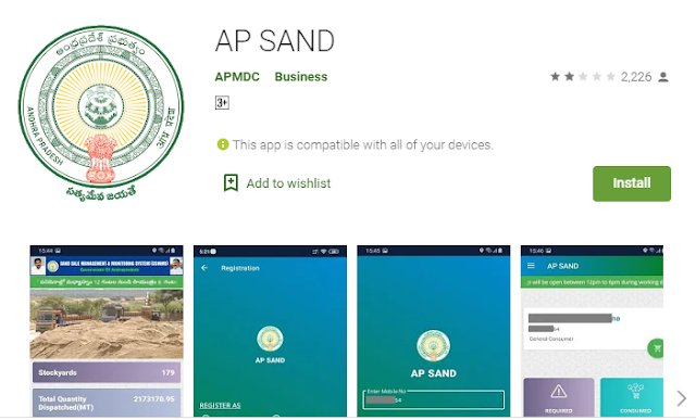 ap sand booking app