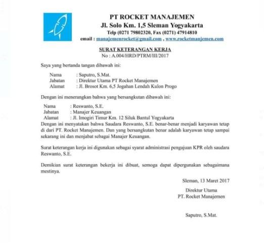 Contoh Surat Pernyataan untuk Berbagai Urusan (via: contohsurat.co)