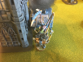 40k SW vs GSC Wolf Lord takes out Lictor lurking near Objective 2